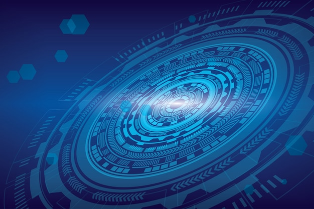 Technologie de fond numérique abstraite.