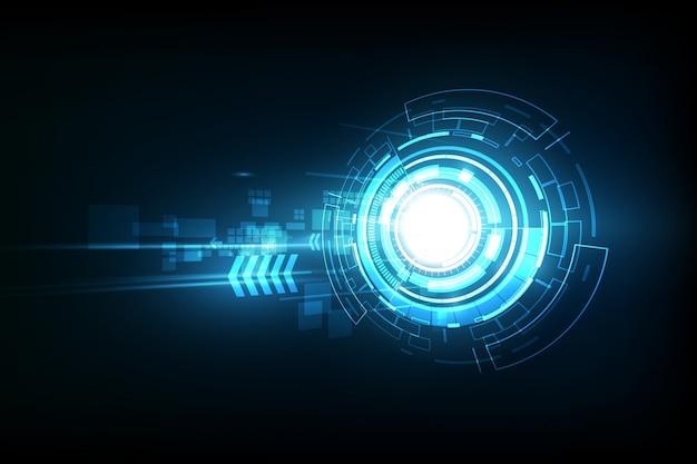 Technologie future abstraite de vecteur, télécom électrique