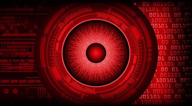 Technologie future du circuit cyber des yeux rouges