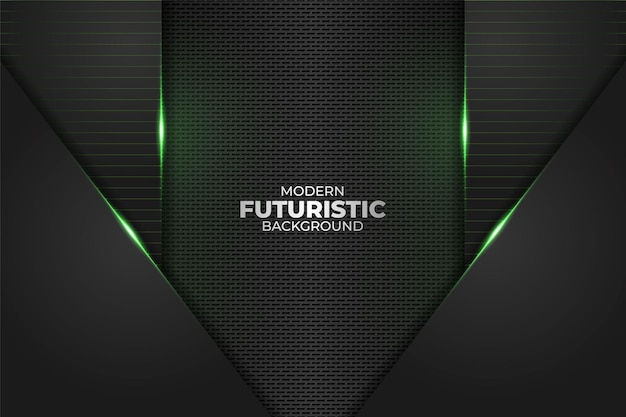 Technologie futuriste moderne minimaliste diagonale géométrique glow neon green en arrière-plan sombre
