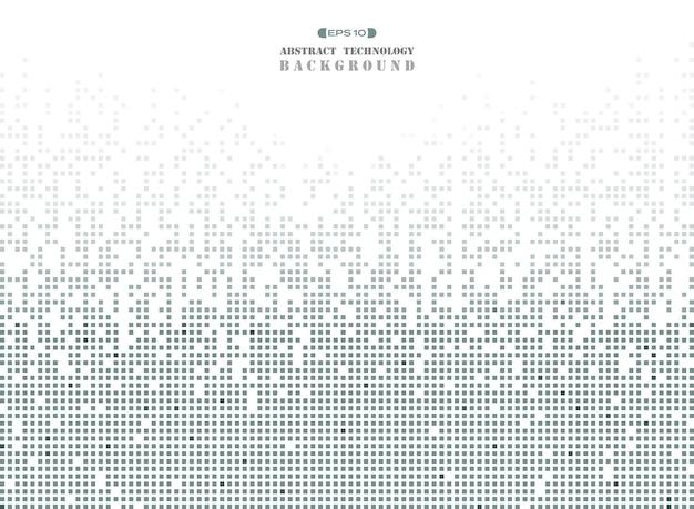 Technologie futuriste en motif carré gris foncé