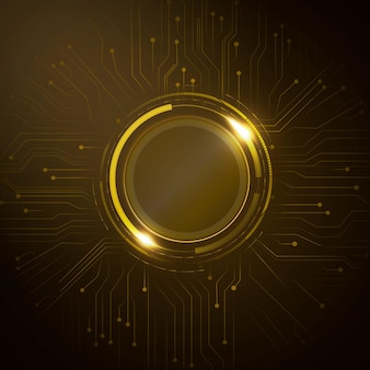 Technologie futuriste de vecteur de cercle numérique de fond de circuit