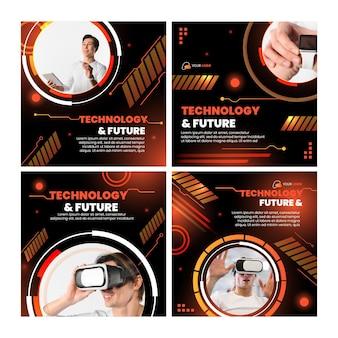 Technologie et futurs posts instagram