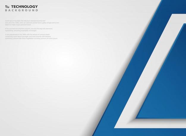 Technologie géométrique abstrait bleu pour la présentation.