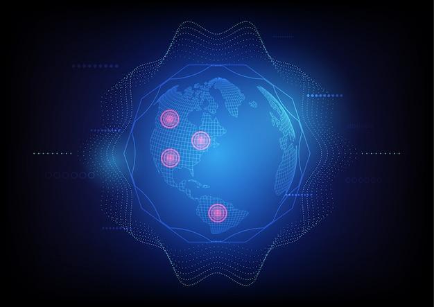 Technologie globale de satellite abstrait, système de localisation de recherche