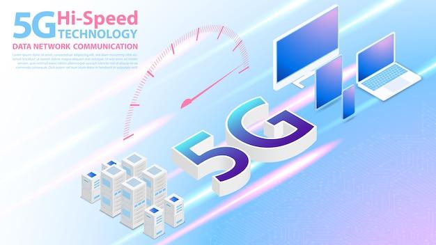 Technologie à haute vitesse 5g communication réseau internet sans fil