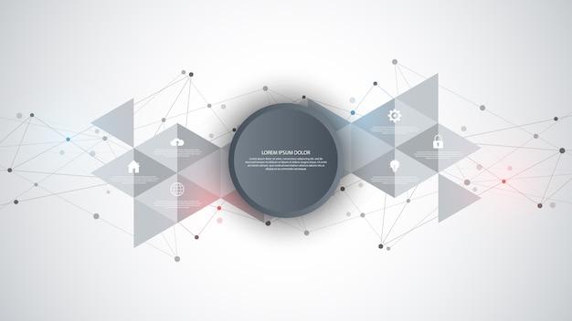 Technologie de l'information avec des éléments infographiques