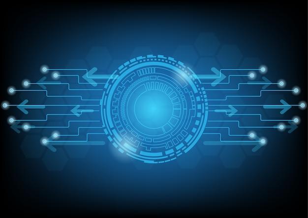 Technologie informatique bleue abstraite