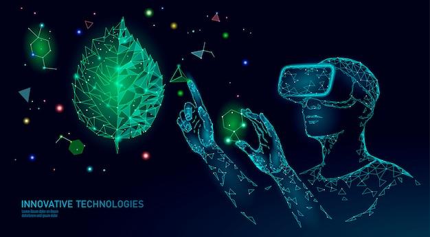 Technologie d'ingénierie moderne évolution de l'adn. réalité augmentée