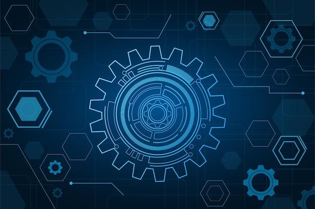 Technologie et ingénierie numériques, concept de télécommunications numériques