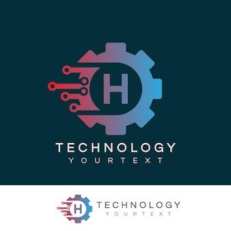 Technologie initiale lettre h création de logo
