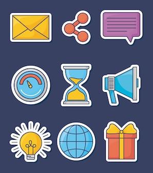 Technologie et innovation design icône vector illustration