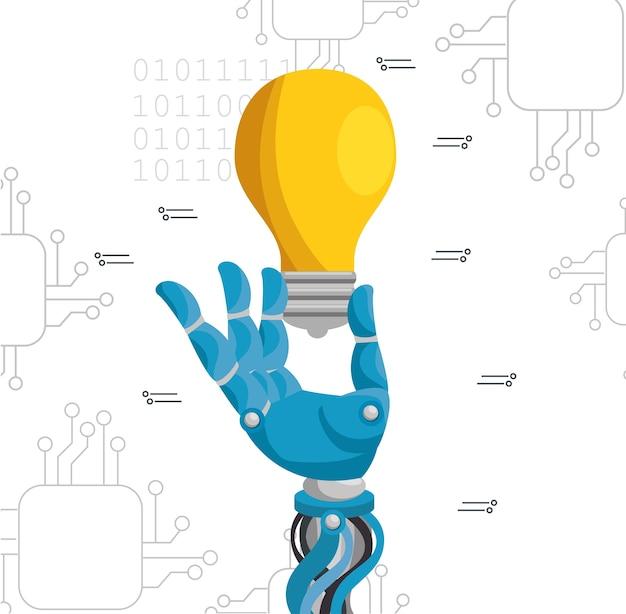 La technologie de l'intelligence artificielle définie des icônes