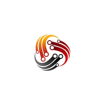 Technologie logo template vecteur