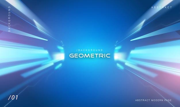 Technologie lumière fond avec ombre géométrique