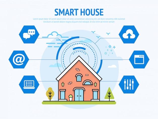 Technologie de maison intelligente du concept de domotique