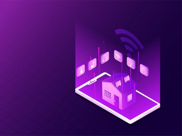 Technologie de la maison intelligente.