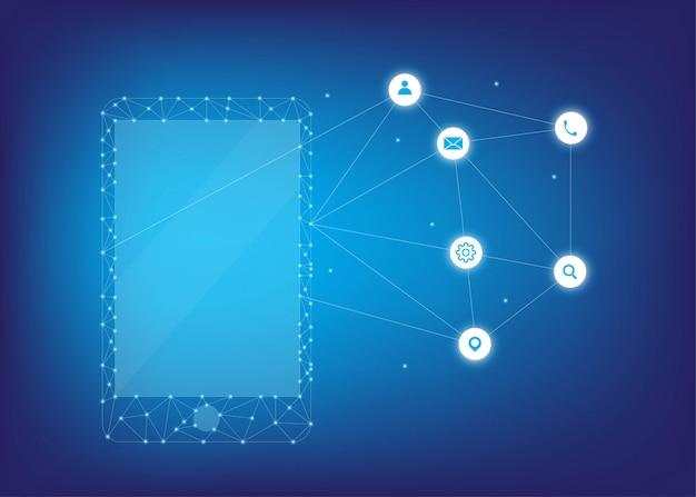Technologie mobile à points faibles et légers