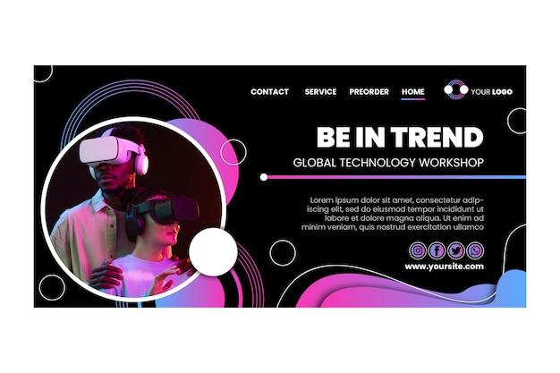 Technologie et modèle de page de destination future