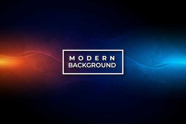 Technologie moderne abstrait vague rouge et bleu
