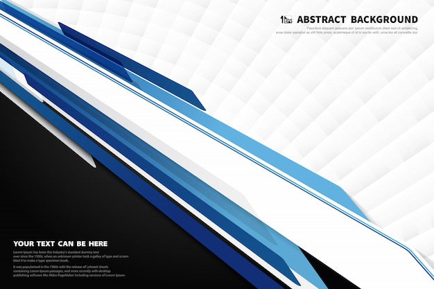 Technologie moderne abstraite de fond de décoration de modèle de conception bleu et blanc.