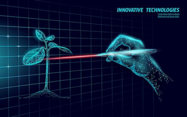 Technologie moderne d'analyse laser d'usine