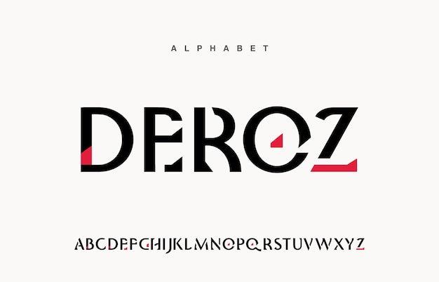 Technologie moderne futuriste abstraite. polices de l'alphabet moderne
