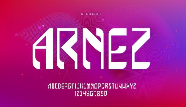 Technologie moderne futuriste. polices alphabet modernes