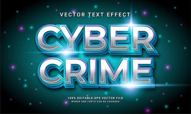 Technologie moderne sur le thème de l'effet de style de texte 3d de la cybercriminalité