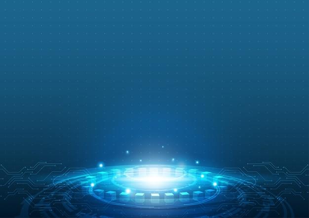 Technologie montante, concept de vecteur de technologie.