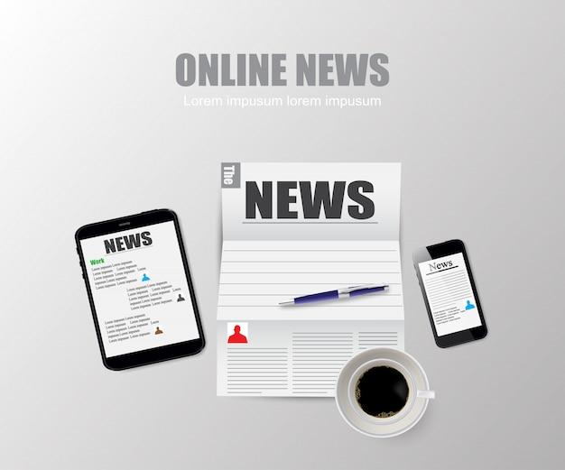 Technologie de nouvelles en ligne