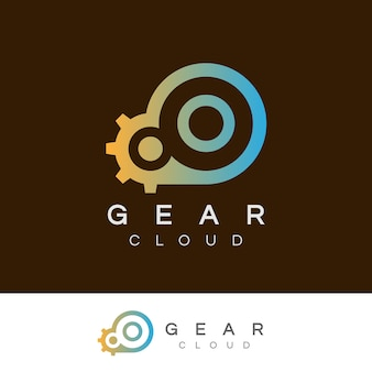 La technologie de nuage initiale lettre o logo design