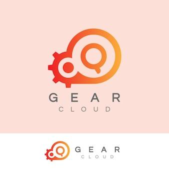 La technologie de nuage initiale lettre q logo design