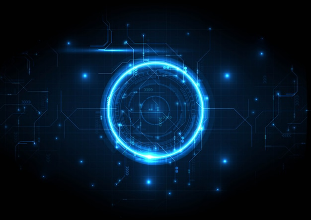 Technologie numérique de circuit de centre de lumière intense