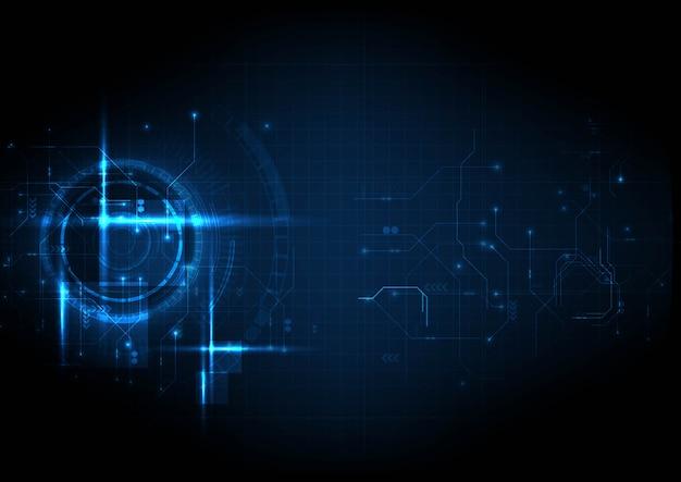 Technologie numérique de circuit futuriste léger