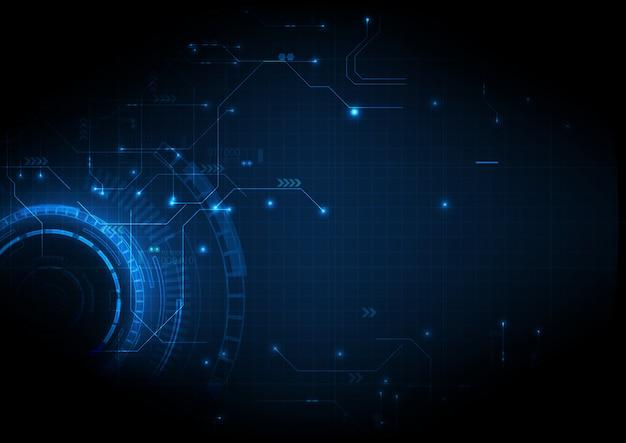 Technologie numérique de circuit numérique sombre