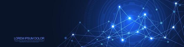 Technologie numérique avec fond de plexus
