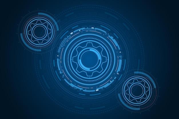 Technologie numérique et ingénierie concept de télécommunications numériques hitechfuturistic technologie backgrou
