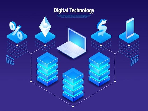 Technologie numérique isométrique