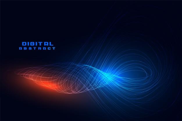 Technologie numérique de mouvement d'onde de ligne en spirale