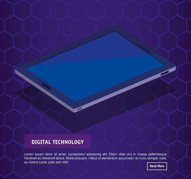 Technologie numérique tablette isométrique