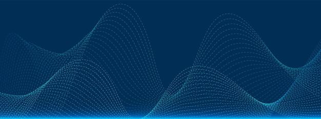 Technologie des particules abstraites, conception des vagues, arrière-plan du réseau numérique, concept de communication vectorielle