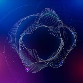 Technologie perturbatrice de dégradé violet de vecteur de cercle d'assistant virtuel