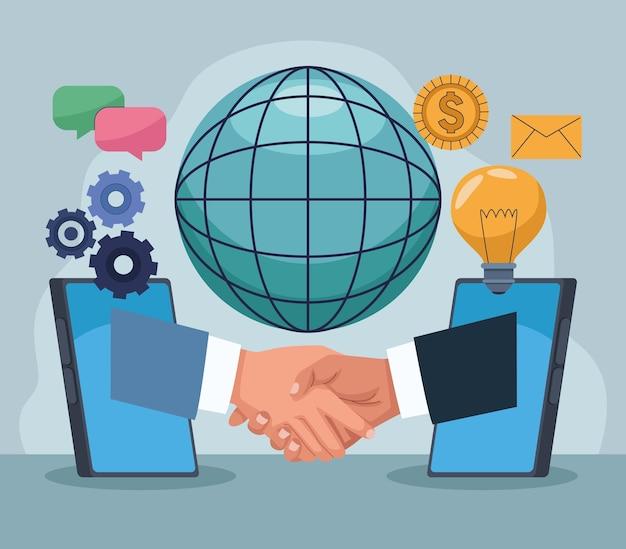 Technologie de poignée de main d'offres en ligne