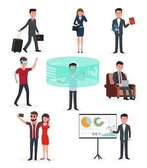 Technologie de la réalité virtuelle et des affaires.