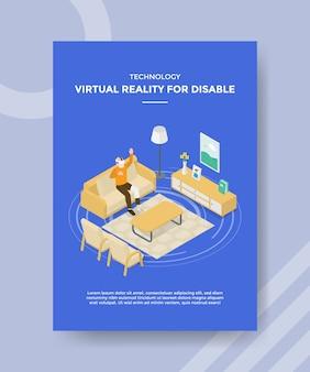 Technologie de réalité virtuelle pour les hommes handicapés utilisant des prothèses de jambe en verre vr