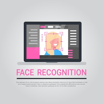 Technologie de reconnaissance des visages système de sécurité informatique pour ordinateur portable numérisation d'utilisateur biométrique identific