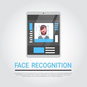 Technologie de reconnaissance des visages système de sécurité pour tablette numérique à balayage identificati biométrique d'utilisateur masculin