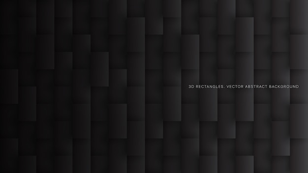 Technologie rectangles 3d fond abstrait noir minimaliste
