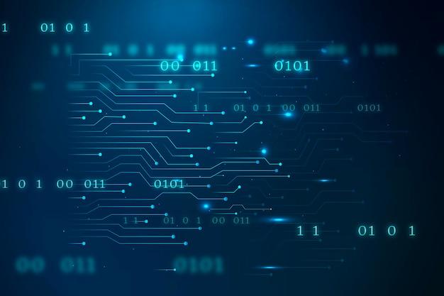 Technologie de réseau futuriste bleue